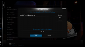 Adding the RSS Source to XBMC