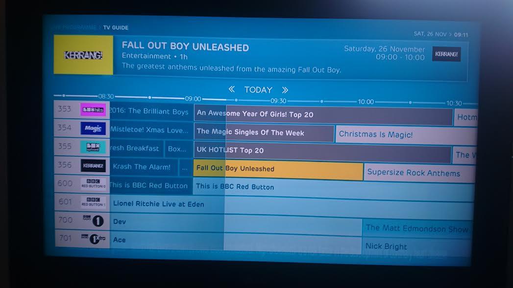 Categories on ITV Hub